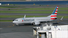 American Airlines airplane new colors Stock Footage