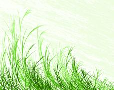 blowing grass - stock illustration