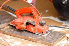 Carpenter plane wood for house construction Kuvituskuvat