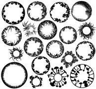 plant rings - stock illustration