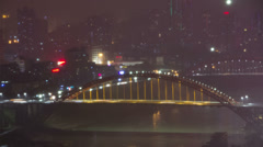 Rongzhou bridge at night Stock Footage