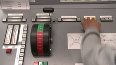 VESSEL ENGINE CONTROL ROOM PANEL 4 Stock Footage
