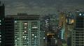 Aerial night illuminated cityscape. Sao Paulo, Brazil. Timelapse 4k 4096 X 2304 Footage