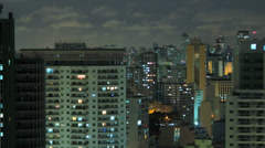 Aerial night illuminated cityscape. Sao Paulo, Brazil. Timelapse 4k 4096 X 2304 Stock Footage