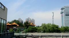Dragon Head and tail Pangu Plaza Beijing China East Asia Stock Footage
