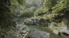 Riverside large rocks 02, color-graded Full HD (1920x1080) Stock Footage
