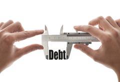 compress debt - stock photo