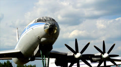 Historic Aircrafts USSR - TU 114 Stock Footage