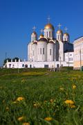 Assumption cathedral  at Vladimir in summer Stock Photos