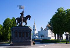 sightseeing  of Vladimir in morning - stock photo