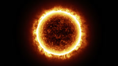HD - Sun surface with solar flares. 3D animation - stock footage