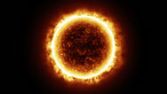 Stock Video Footage of HD - Sun surface with solar flares. 3D animation