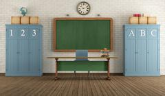 Retro classroom Stock Illustration