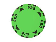 25 dollars casino chip Stock Photos