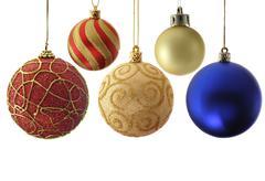 Variety christmas balls - stock photo