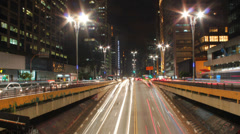 Rush hour after work on Avenida Paulista, Sao Paulo, Brazil. Timelapse Stock Footage