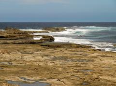 Tidal rock platform, Australia - stock photo