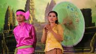 Stock Video Footage of Traditional Apsara show in local restaurant in Siem Reap city, Cambodia