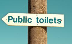 Public toilet Stock Photos