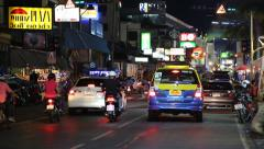 Road traffic in Pattaya, Thailand Stock Footage