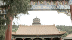 Summer Palace temple and gardens Yiheyuan Beijing China Stock Footage