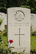 An australian soldier of the great war ww1 Stock Photos