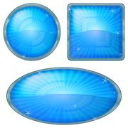 Icons buttons blue, set Stock Illustration