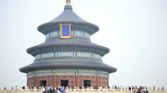 Temple of Heaven Imperial Sacrificial Alter Pagoda Beijing China - stock footage