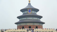 Imperial Sacrificial Alter Temple of Heaven Beijing China - stock footage