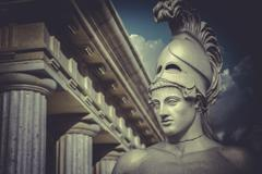 Stock Photo of bust of the greek statesman pericles, classical sculpture
