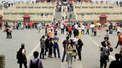 Temple of Heaven UNESCO World Heritage Site Beijing China Stock Footage