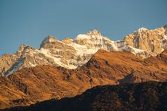 The Annapurna range Stock Photos