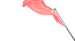 Chinese National Flag Peoples Republic Beijing China Asia Stock Footage