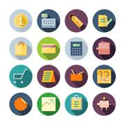 flat design icons for business and retail - stock illustration
