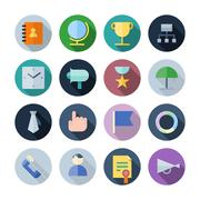 flat design icons for business - stock illustration
