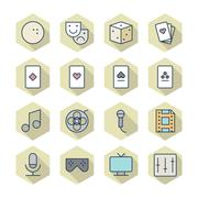 Stock Illustration of thin line icons for leisure