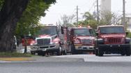 Firetrucks in emergency Stock Footage