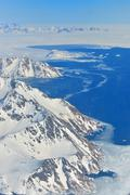 Winter landscape - Panorama at north pole Stock Photos