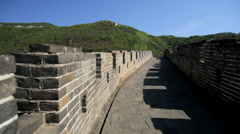 The Great Wall of China historic fortifications Mutianyu Beijing Stock Footage