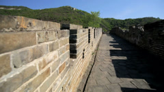 The Great Wall of China historic fort travel Mutianyu Beijing Asia Stock Footage