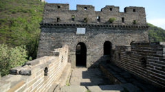 The Great Wall of China military Patriotism Mutianyu Beijing Asia - stock footage
