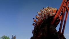 Stock Video Footage of Fun Park , Rotating Carrousel