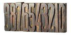 Set of old printers blocks with numbers Kuvituskuvat