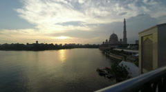 Putrajaya Sunset Timelapse Stock Footage