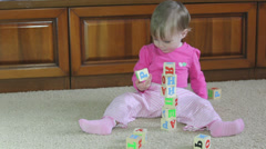 Small child playing Stock Footage