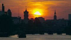 Berlin Sunset timelapse, 4k raw Stock Footage