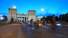 Time Lapse Riding Bicycle Bike at night Munich Bike night Radlnacht Stock Footage