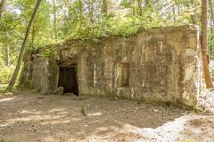Bunker of world war 1 in flanders fields Stock Photos