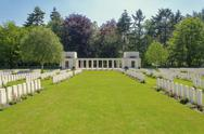 Stock Photo of new british cemetery world war 1 flanders fields