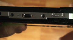 Opening The Disk Tray From A Portable Gaming Console, Close Up Stock Footage